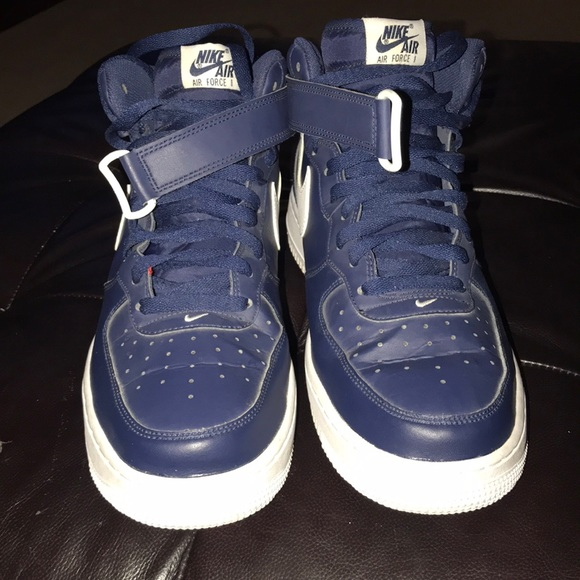 blue air force ones high top